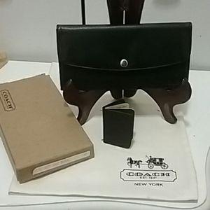 New, Vintage Coach Buffalo Calf Wallet & Book